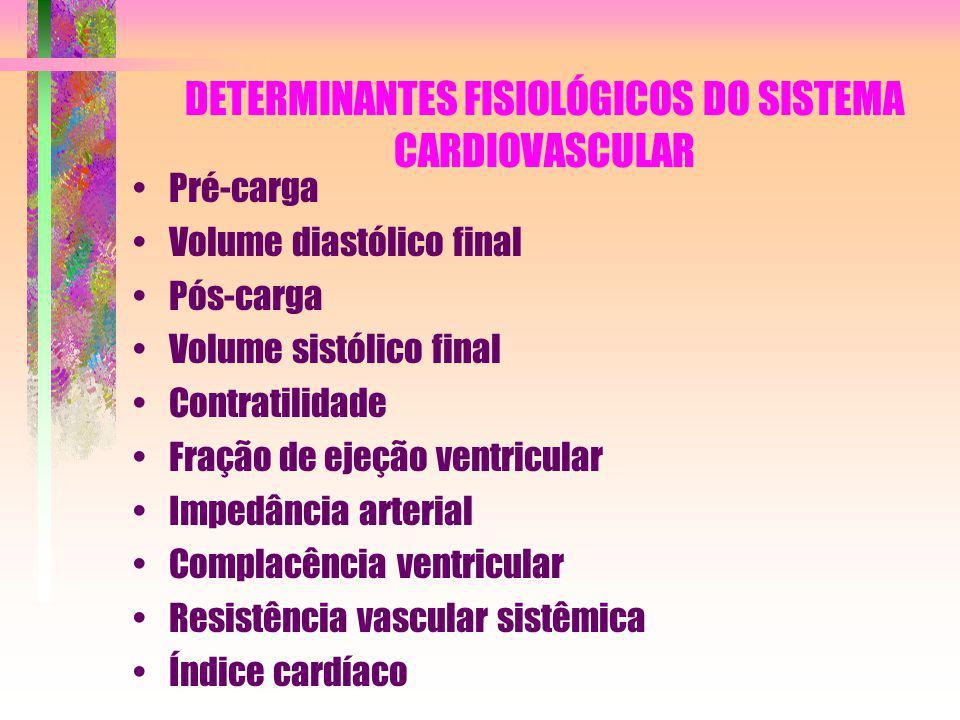 DETERMINANTES FISIOLÓGICOS DO SISTEMA CARDIOVASCULAR