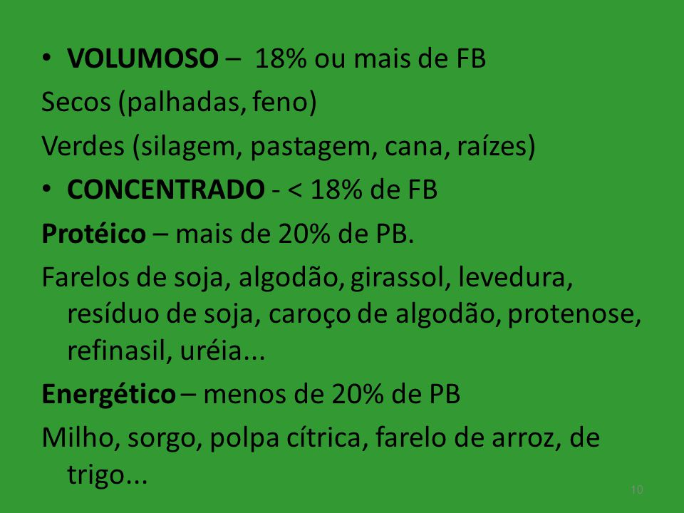 VOLUMOSO – 18% ou mais de FB