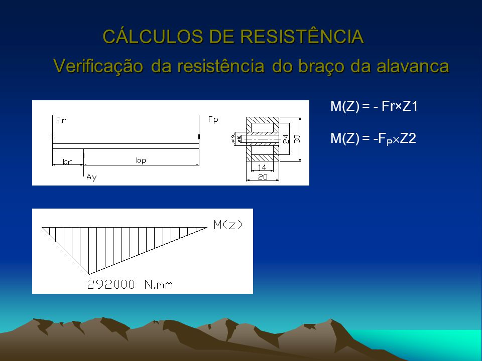 CÁLCULOS DE RESISTÊNCIA