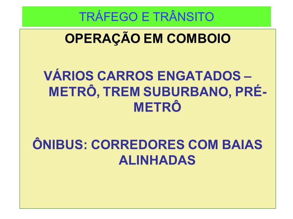 VÁRIOS CARROS ENGATADOS – METRÔ, TREM SUBURBANO, PRÉ-METRÔ