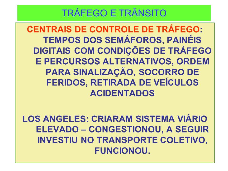 TRÁFEGO E TRÂNSITO