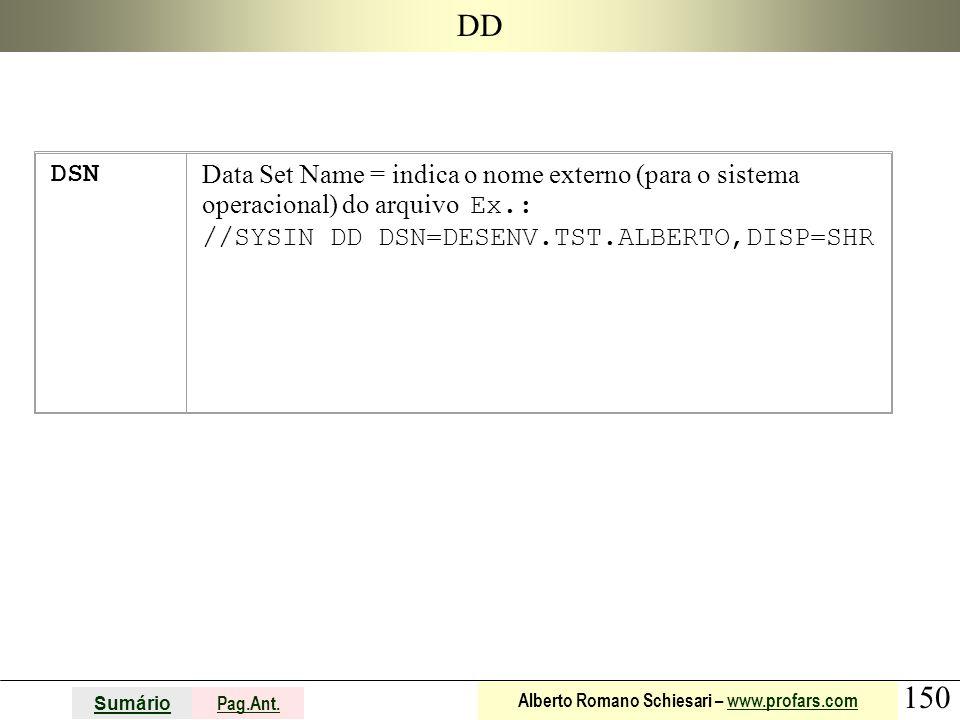 DD DSN.