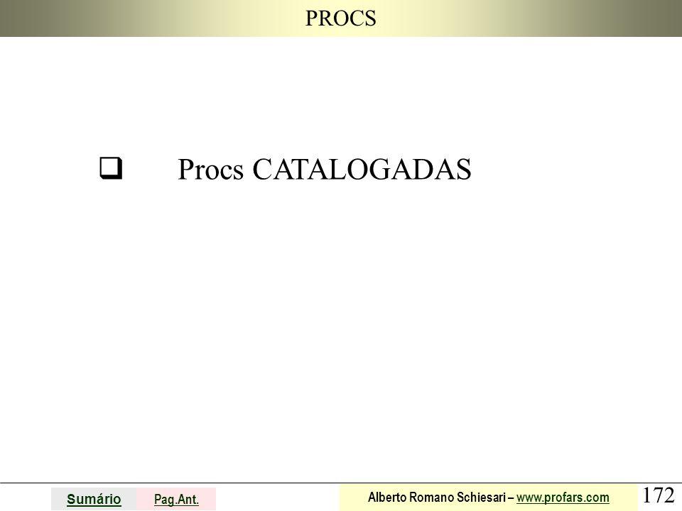 PROCS q Procs CATALOGADAS