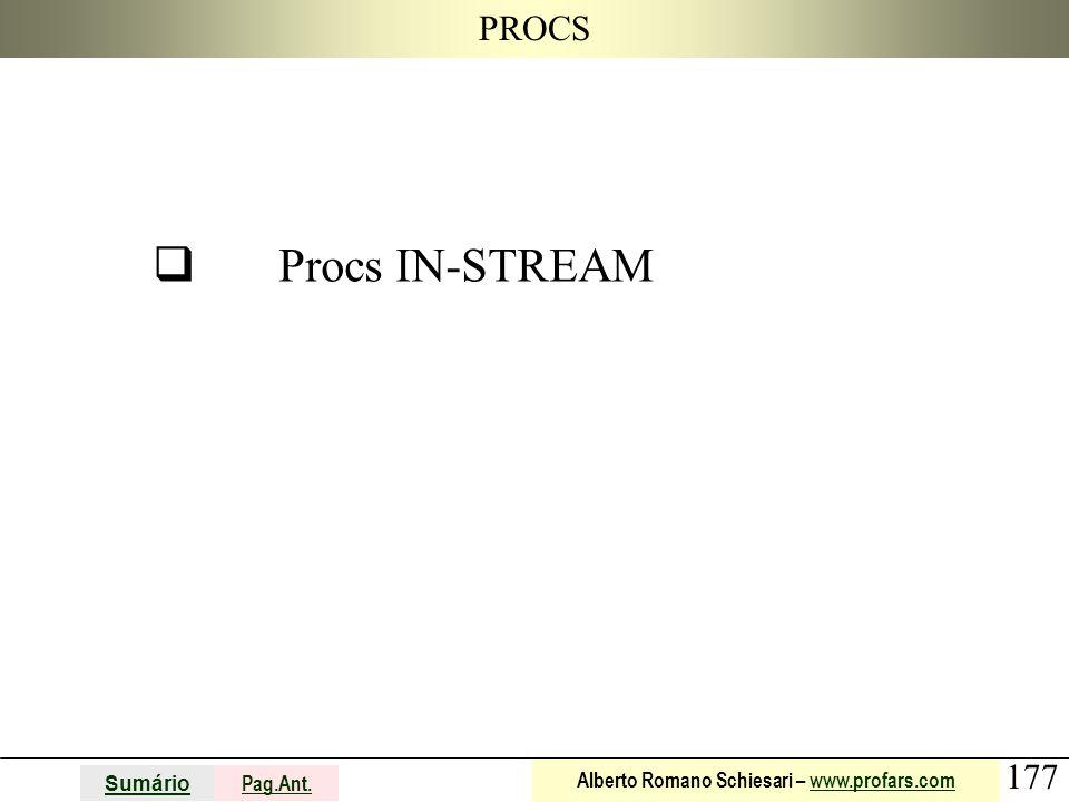 PROCS q Procs IN-STREAM