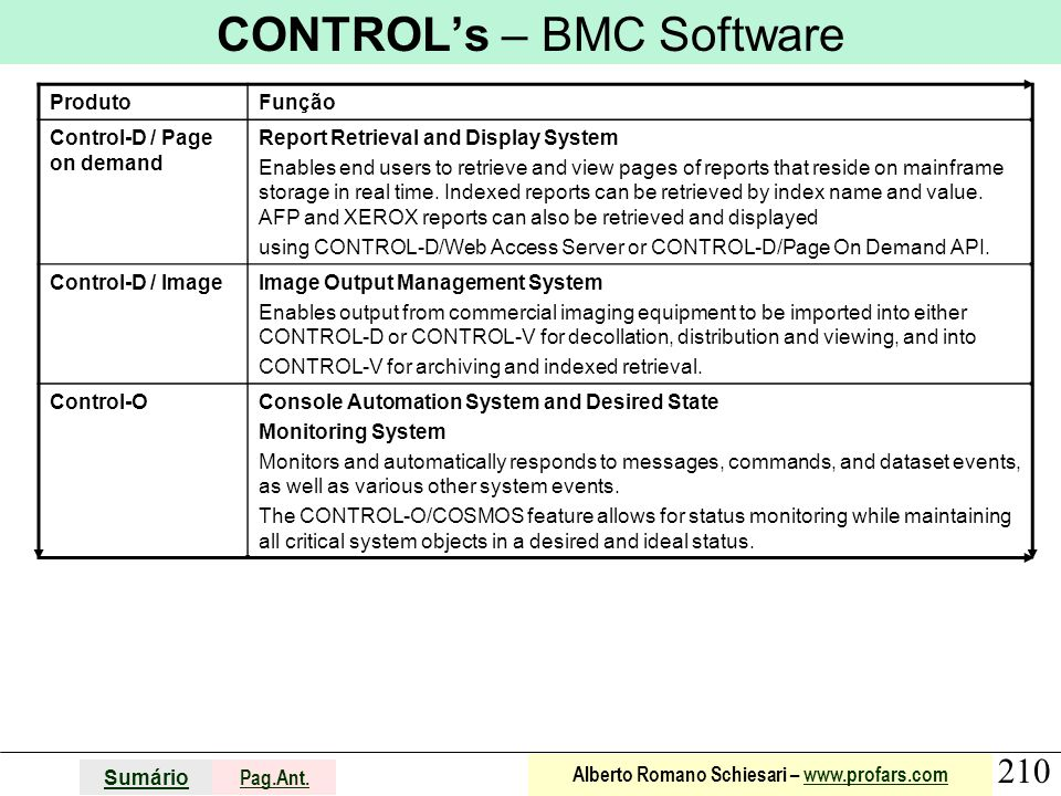CONTROL's – BMC Software