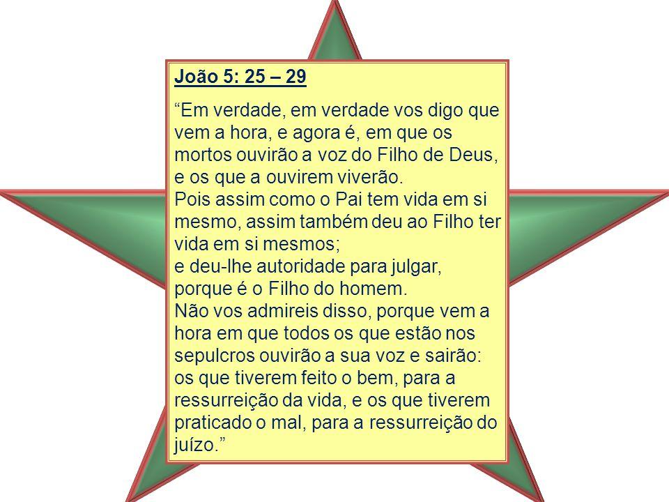 João 5: 25 – 29