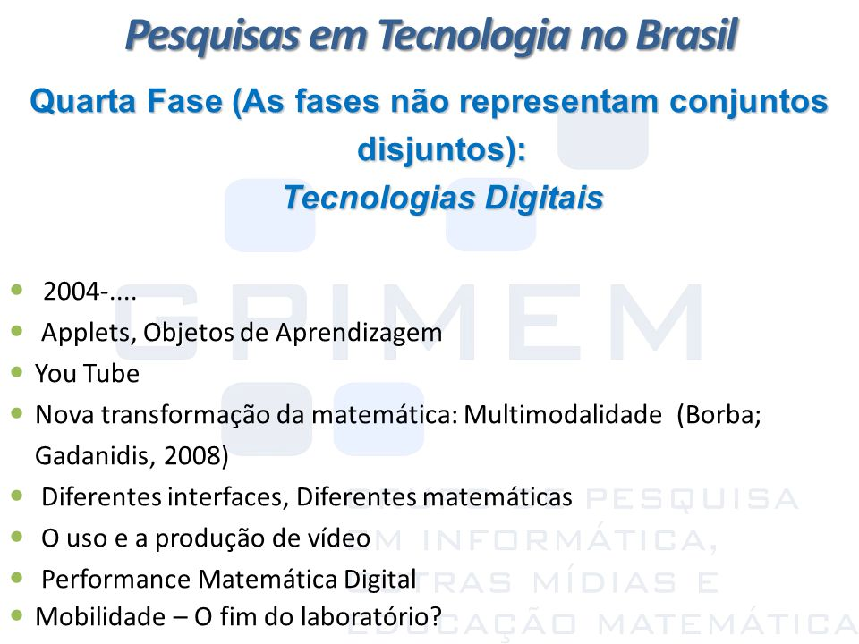 Pesquisas em Tecnologia no Brasil