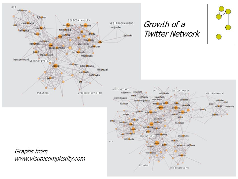 Growth of a Twitter Network