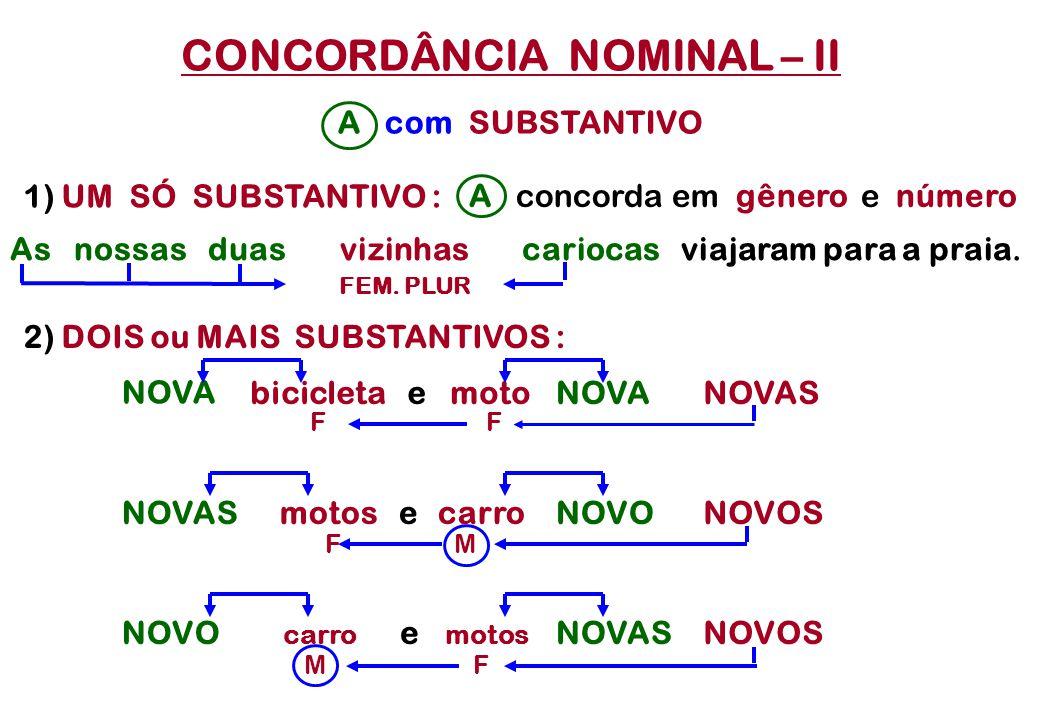 CONCORDÂNCIA NOMINAL – II