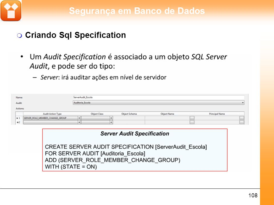 Criando Sql Specification