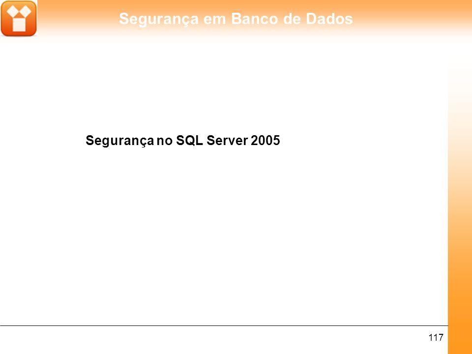 Segurança no SQL Server 2005