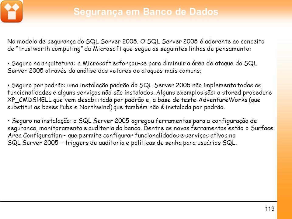 No modelo de segurança do SQL Server 2005