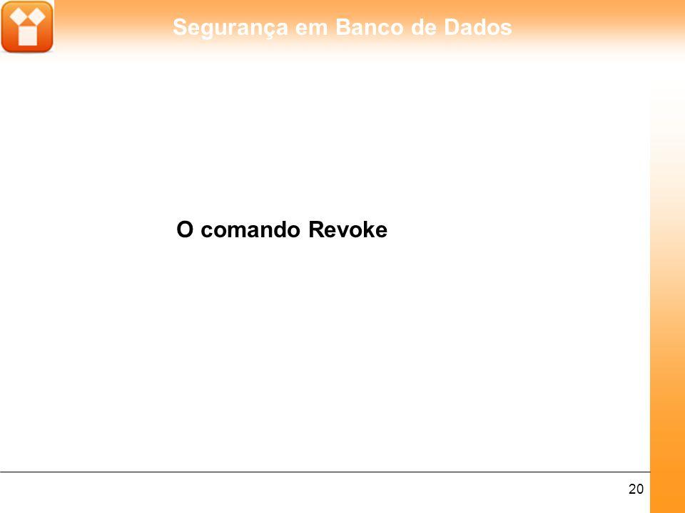O comando Revoke