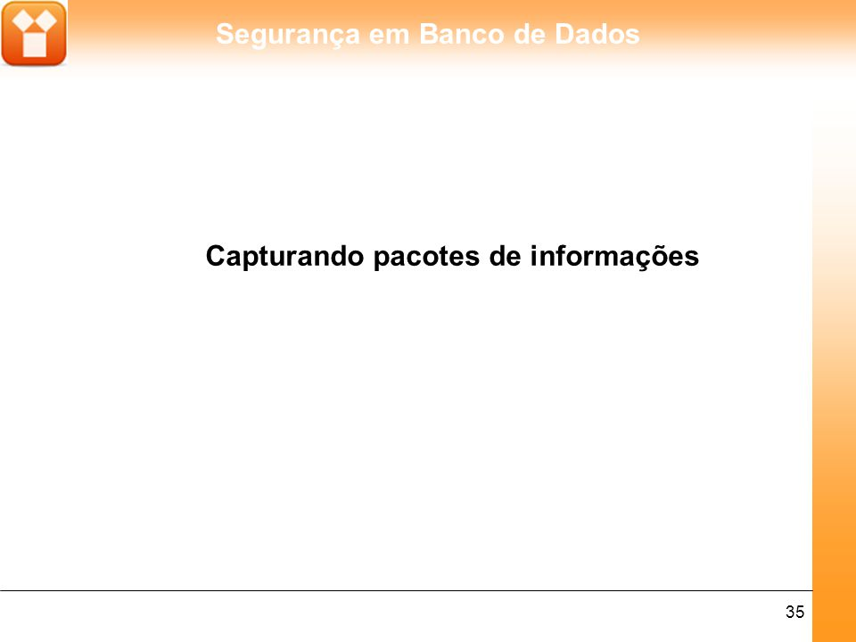 Capturando pacotes de informações