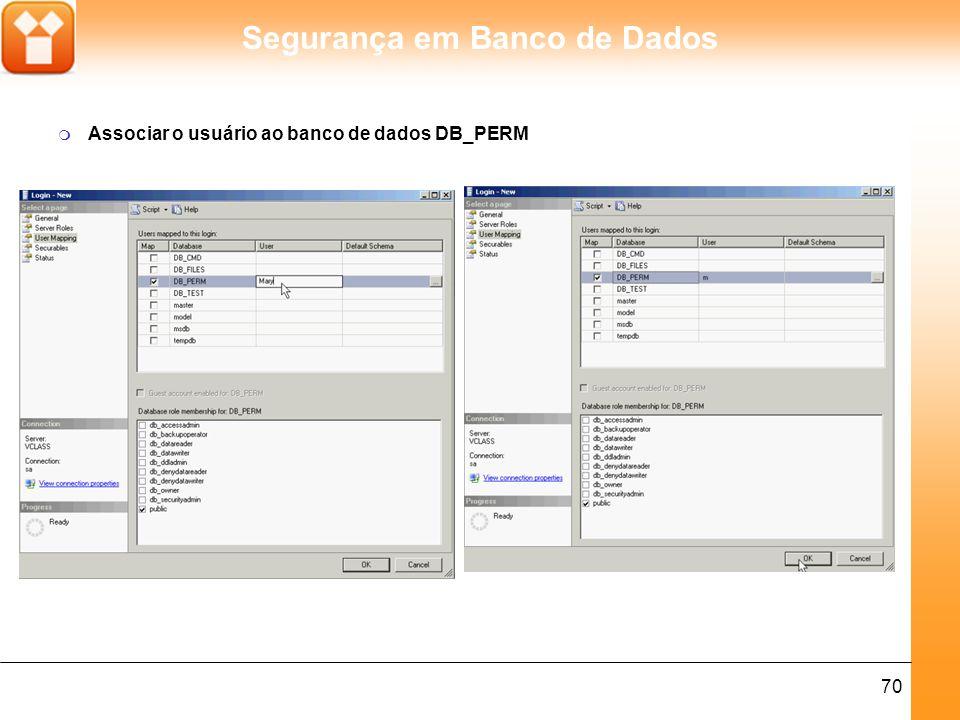 Associar o usuário ao banco de dados DB_PERM