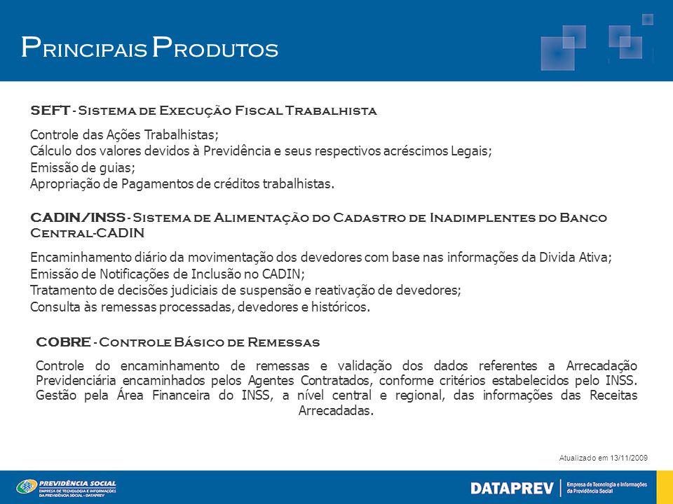 Principais Produtos SEFT - Sistema de Execução Fiscal Trabalhista