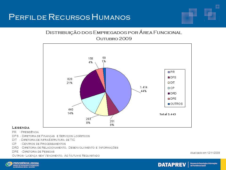 Distribuição dos Empregados por Área Funcional
