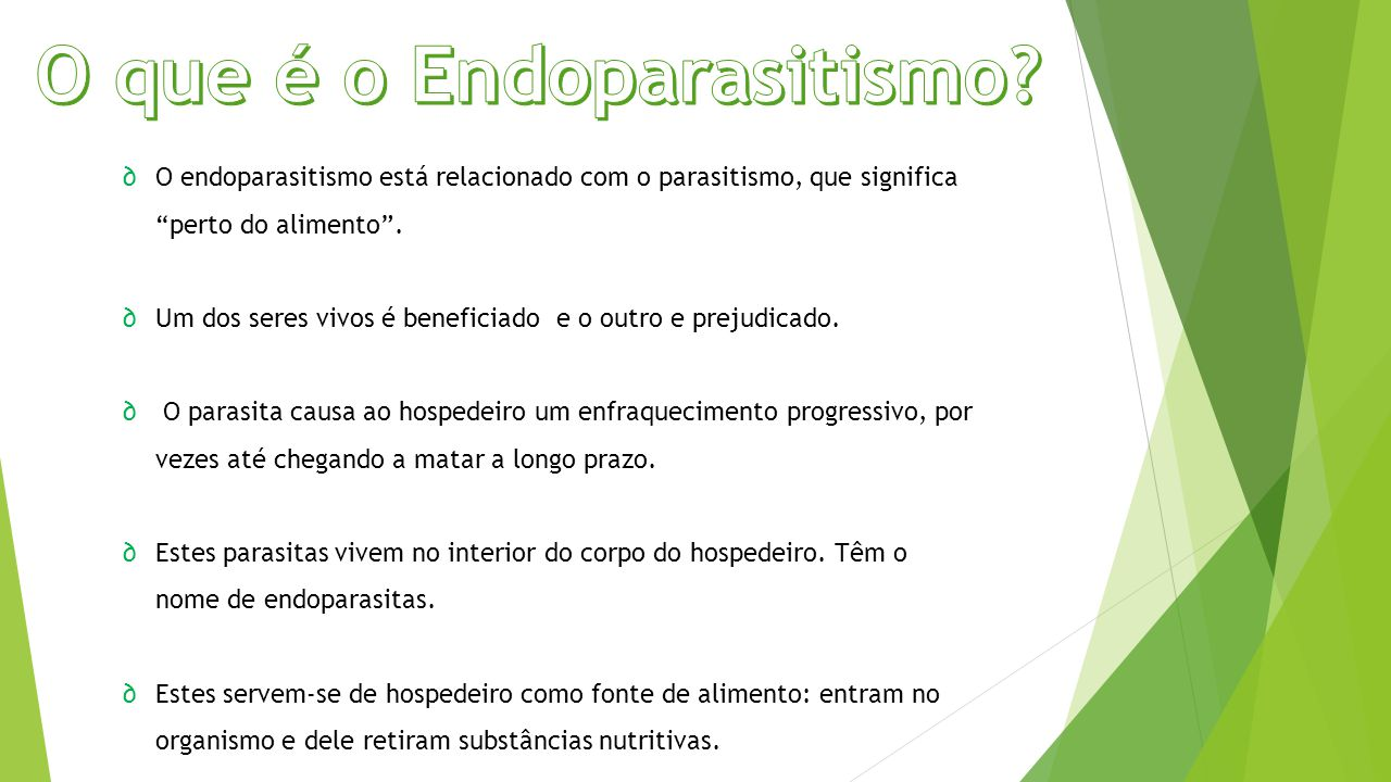 O que é o Endoparasitismo