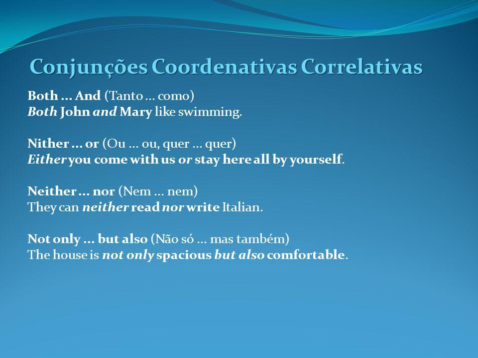Conjunções Coordenativas Correlativas