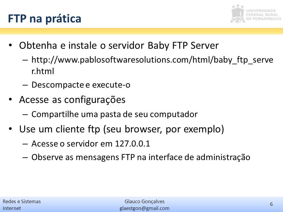 FTP na prática Obtenha e instale o servidor Baby FTP Server