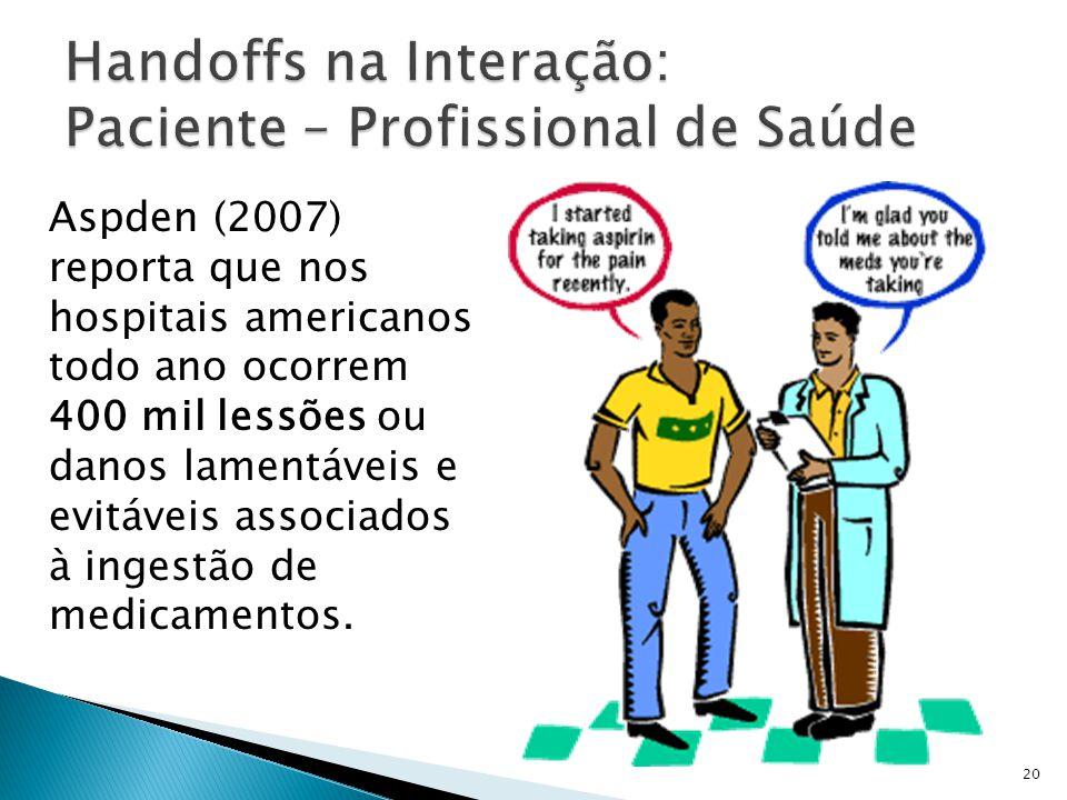 Handoffs na Interação: Paciente – Profissional de Saúde