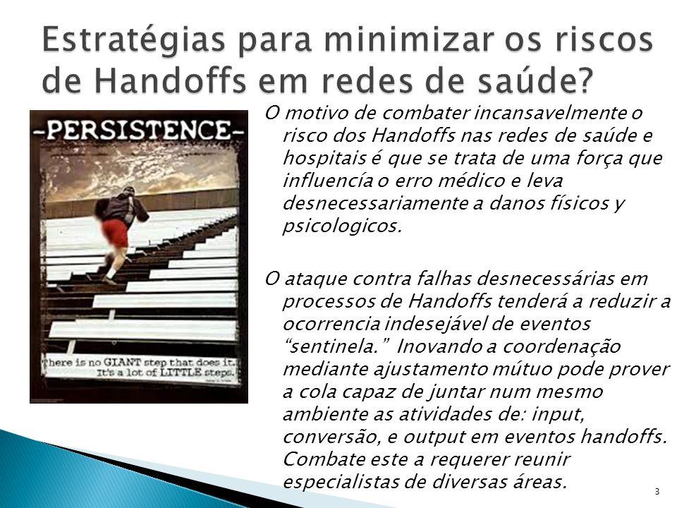 Estratégias para minimizar os riscos de Handoffs em redes de saúde