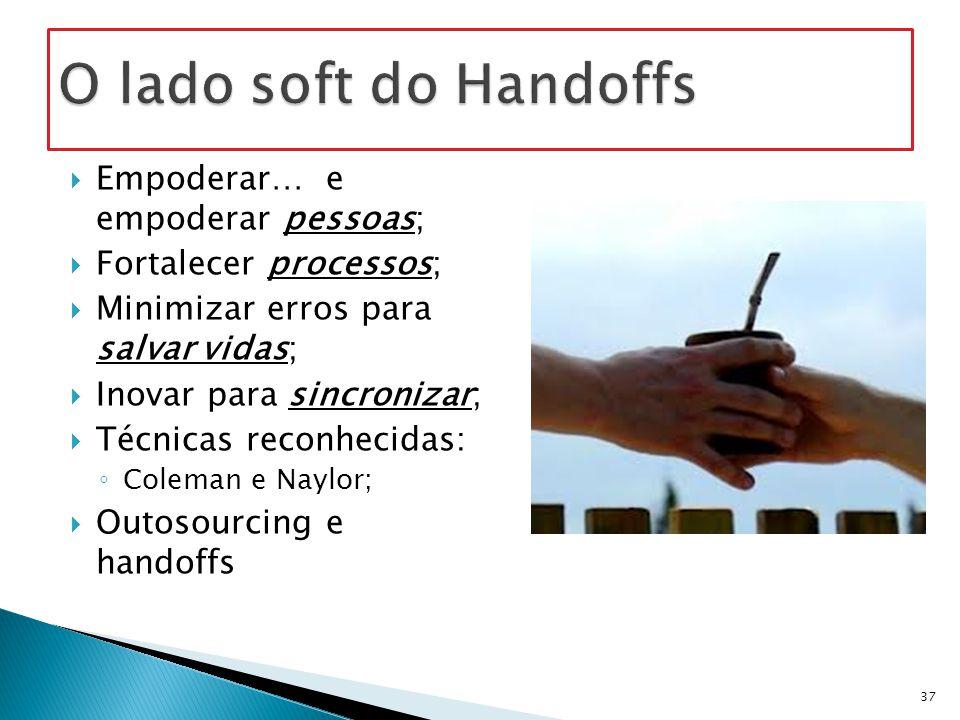 O lado soft do Handoffs Empoderar… e empoderar pessoas;