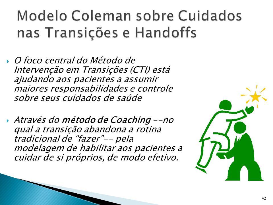 Modelo Coleman sobre Cuidados nas Transições e Handoffs