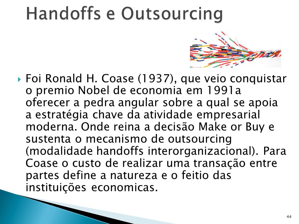 Handoffs e Outsourcing