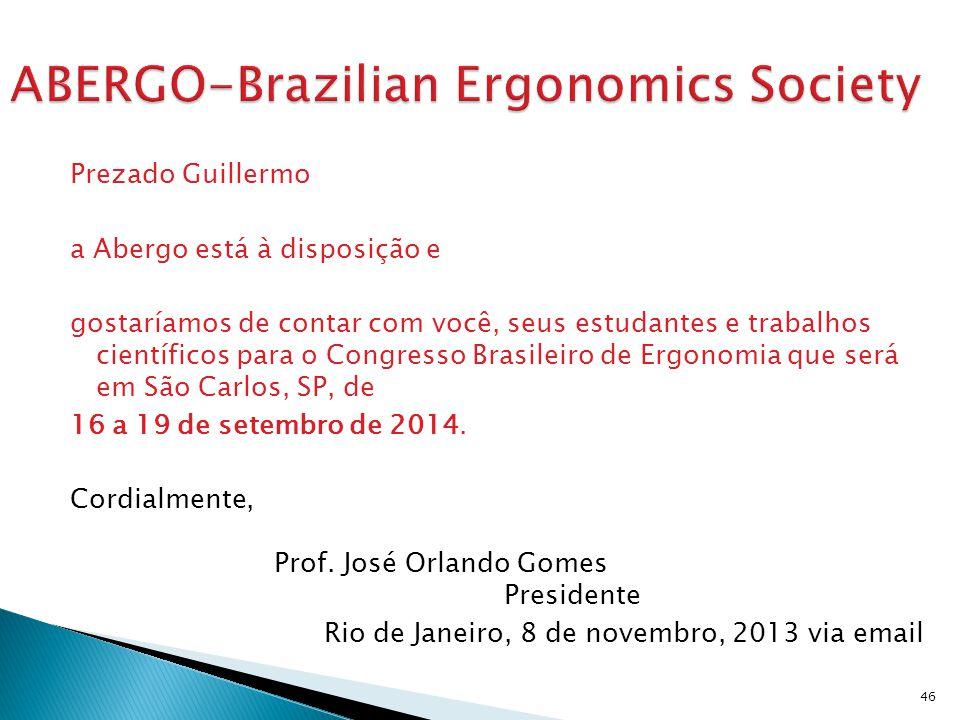 ABERGO-Brazilian Ergonomics Society
