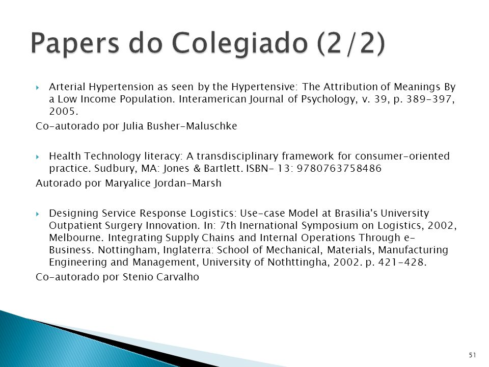 Papers do Colegiado (2/2)