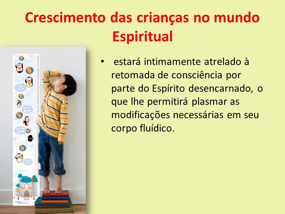 Crescimento das crianças no mundo Espiritual