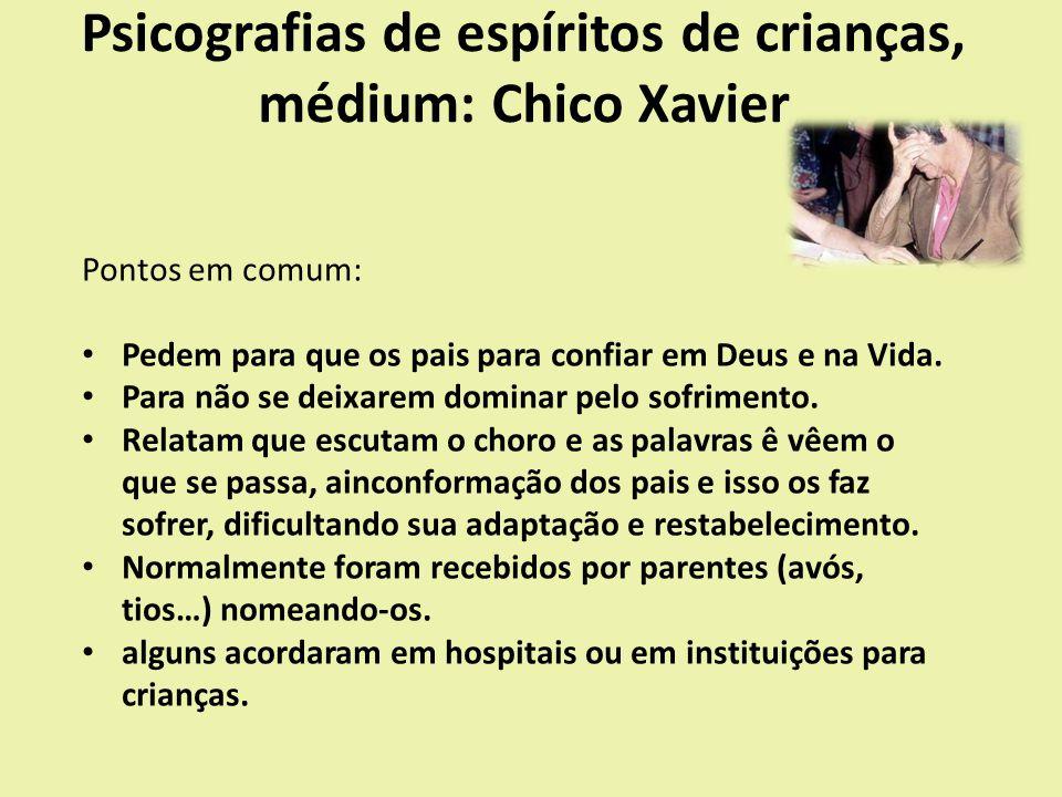 Psicografias de espíritos de crianças, médium: Chico Xavier