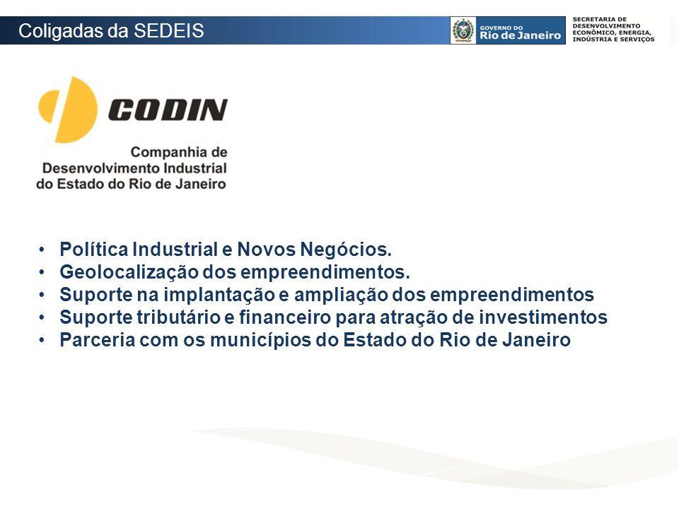 Coligadas da SEDEIS Política Industrial e Novos Negócios. Geolocalização dos empreendimentos.