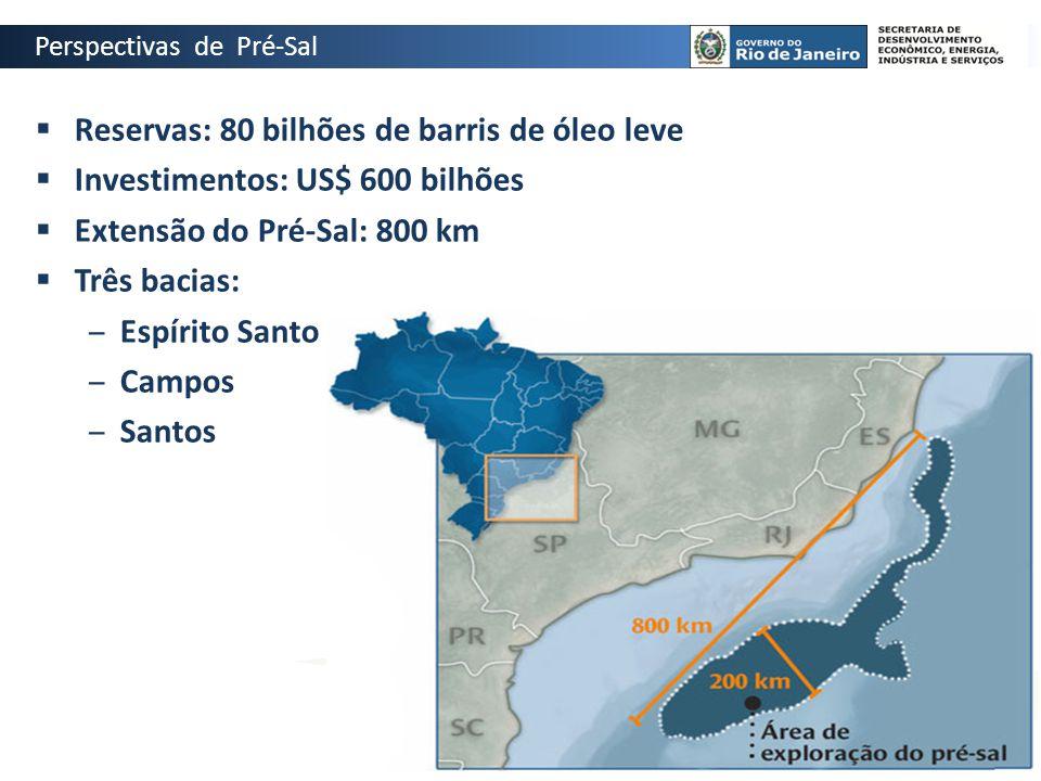 Reservas: 80 bilhões de barris de óleo leve