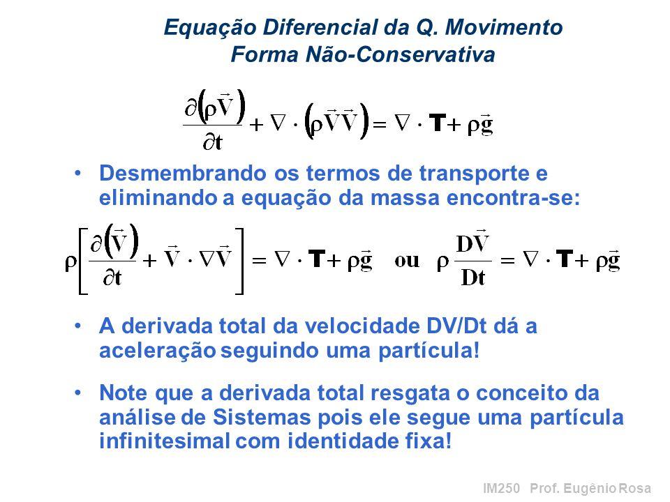 Equação Diferencial da Q. Movimento Forma Não-Conservativa