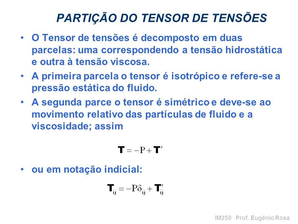 PARTIÇÃO DO TENSOR DE TENSÕES