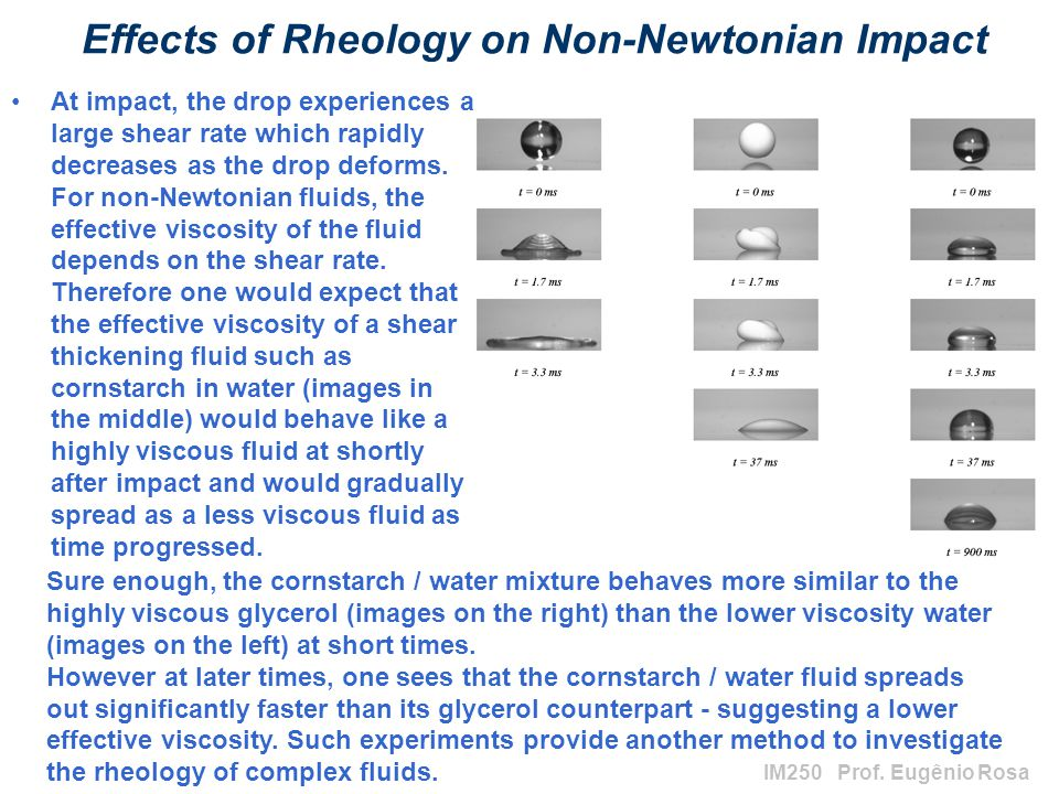 Effects of Rheology on Non-Newtonian Impact