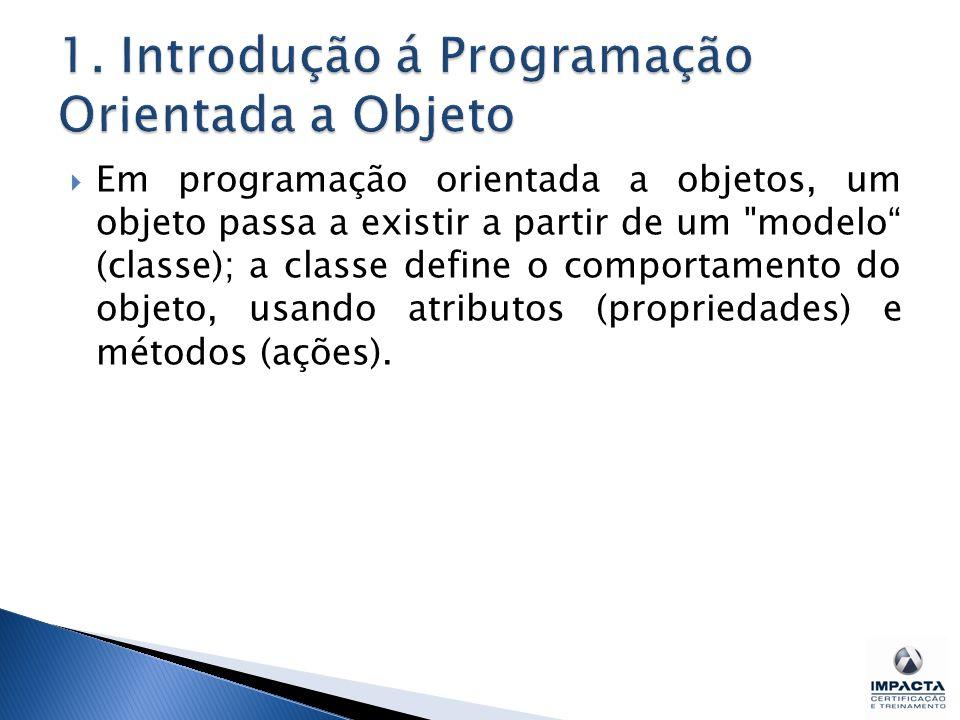 1. Introdução á Programação Orientada a Objeto