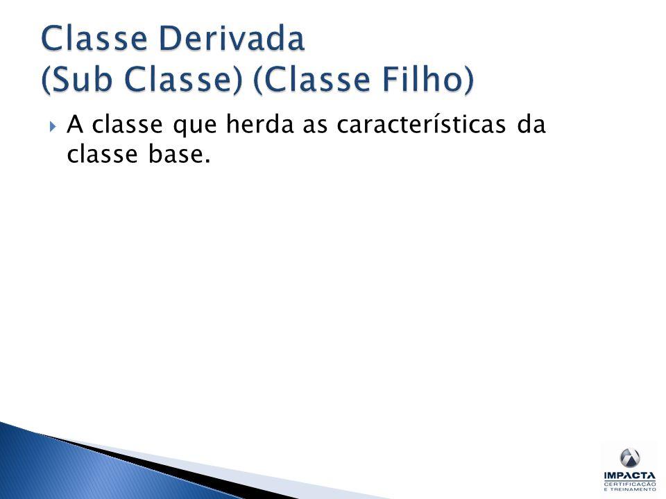 Classe Derivada (Sub Classe) (Classe Filho)