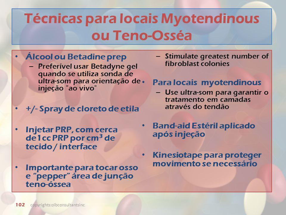 Técnicas para locais Myotendinous ou Teno-Osséa