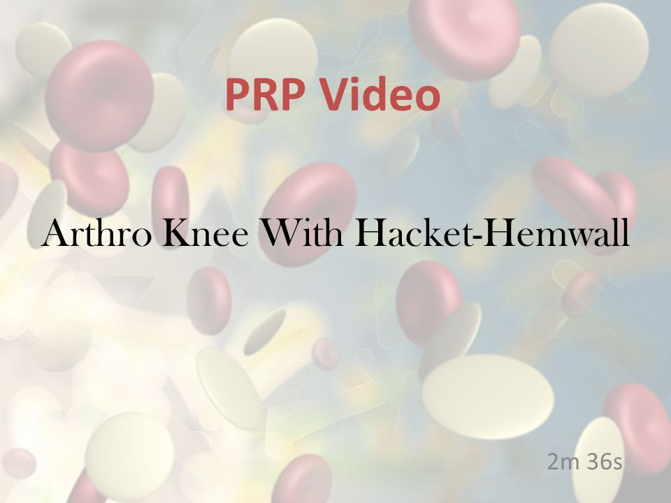 Arthro Knee With Hacket-Hemwall