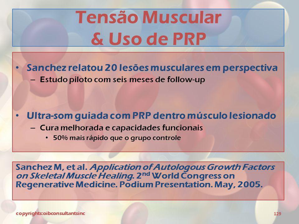 Tensão Muscular & Uso de PRP