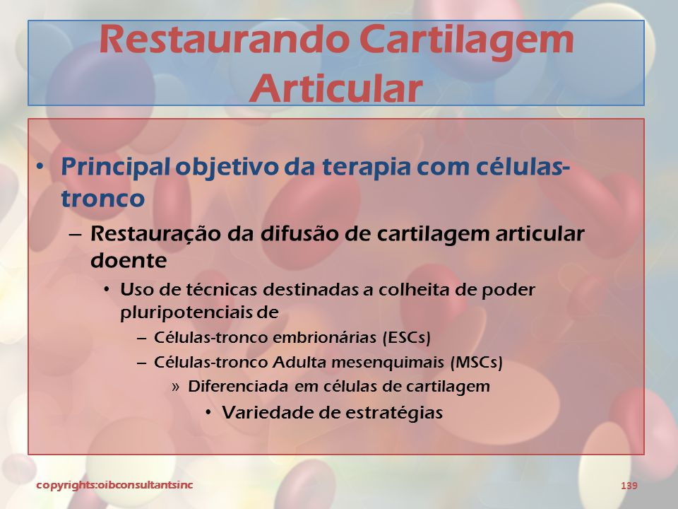 Restaurando Cartilagem Articular