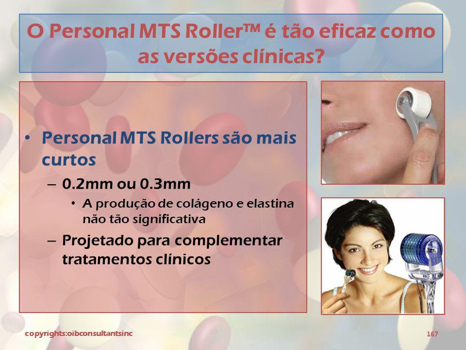 O Personal MTS Roller™ é tão eficaz como as versões clínicas