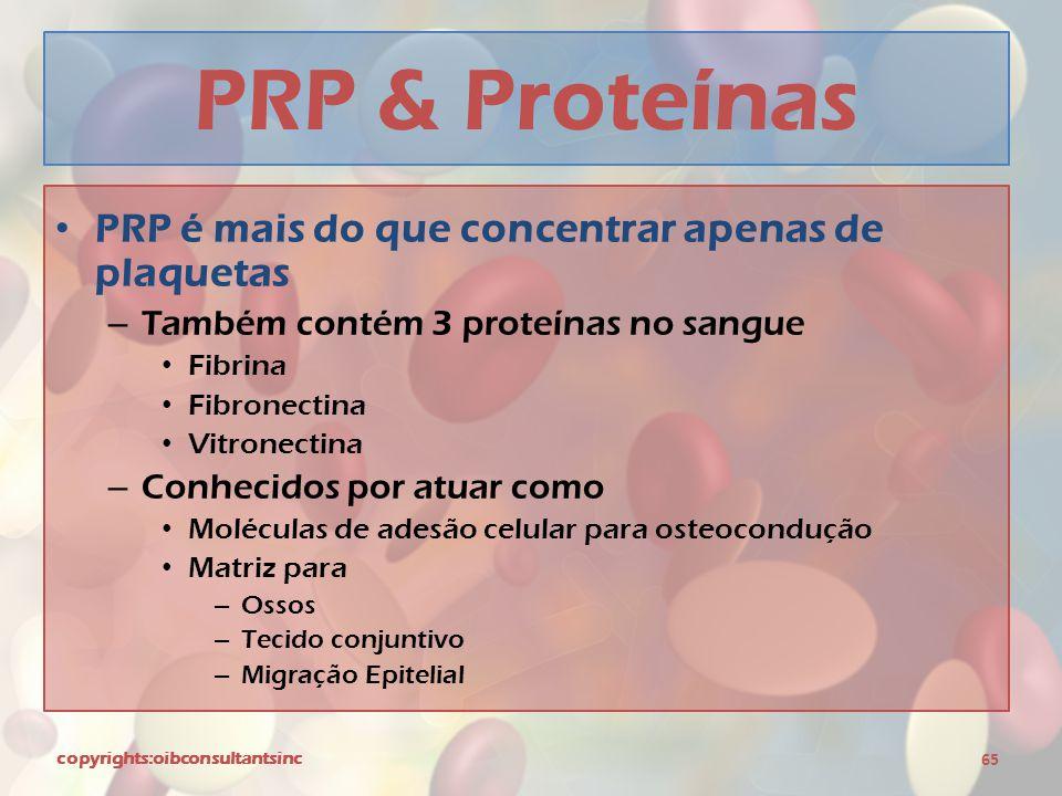 PRP & Proteínas PRP é mais do que concentrar apenas de plaquetas