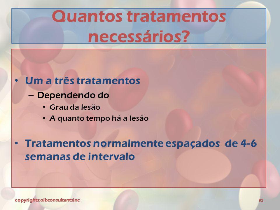 Quantos tratamentos necessários