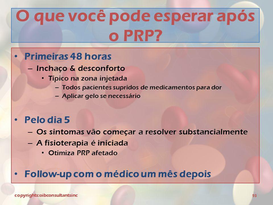 O que você pode esperar após o PRP