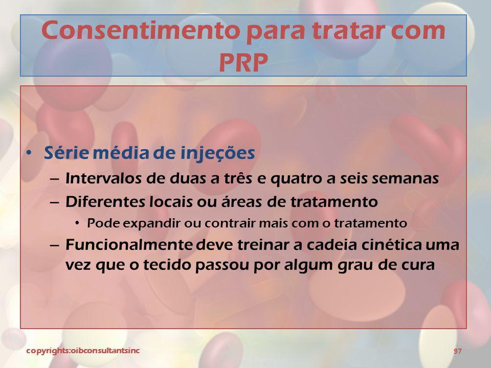Consentimento para tratar com PRP