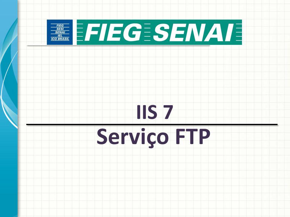 IIS 7 Serviço FTP